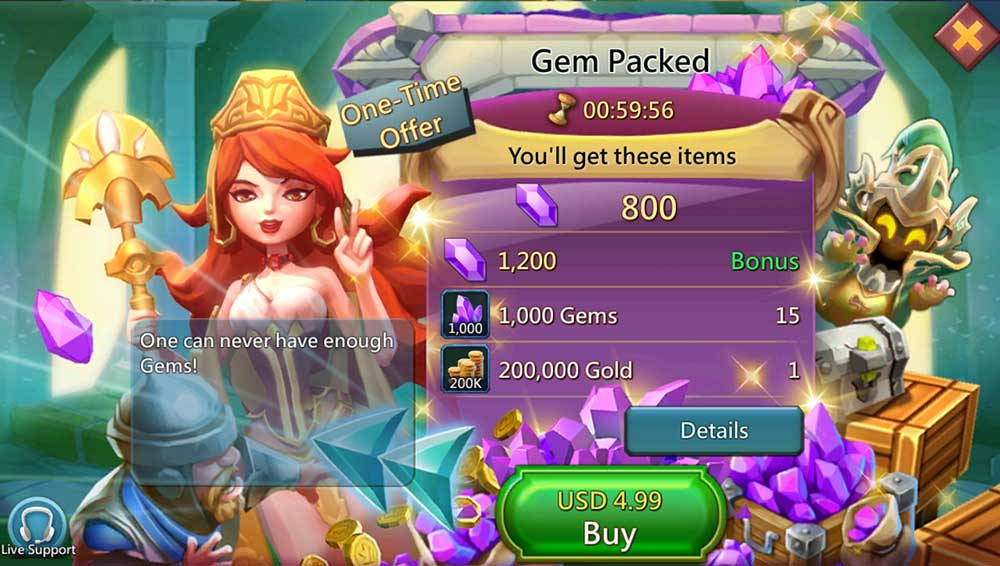 Buy Gems on Lords Mobile