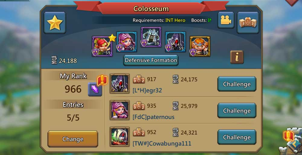 Colosseum Lords Mobile Gems