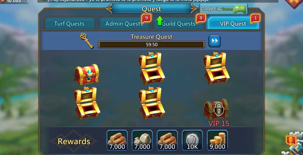 Guild Quests Winning Gems