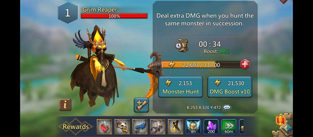 Grim Reaper Monster Hunt Strategy