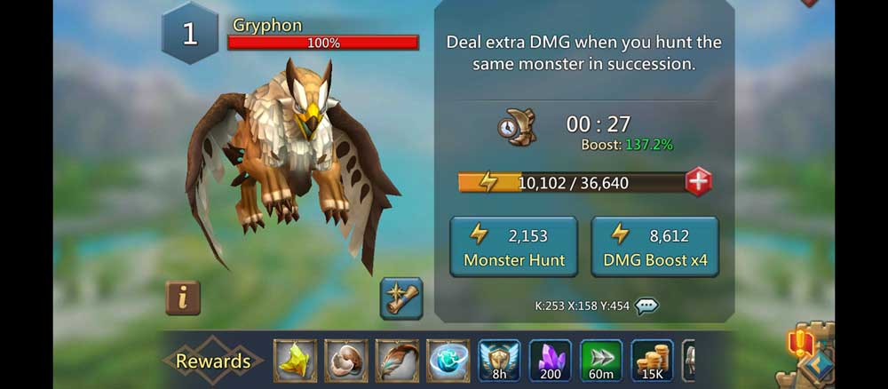 Gryphon Monster Screen