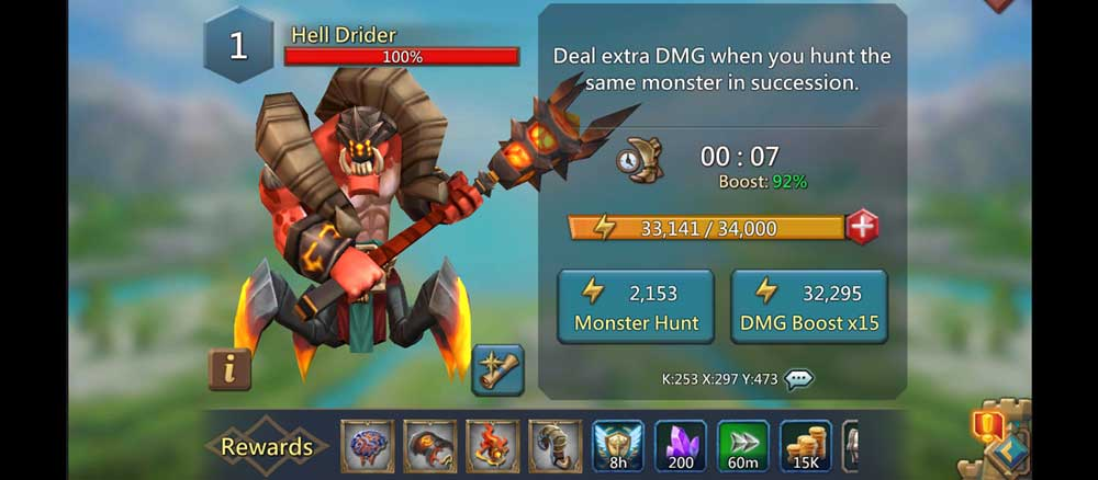 Hell Drider Monster Hunt Screen