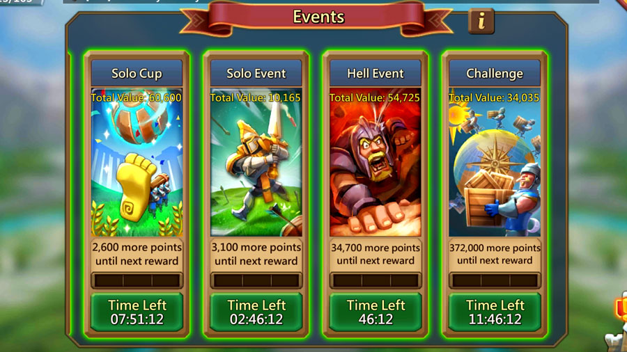 Solo Hell Challenge Events
