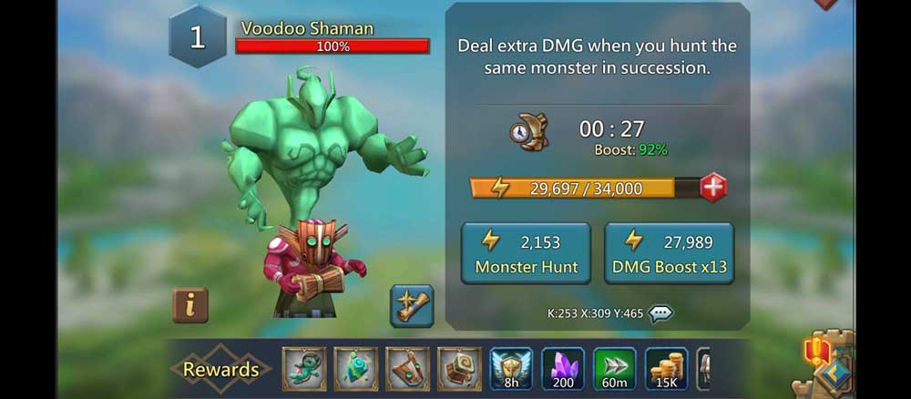 Voodoo Shaman Monster Attack