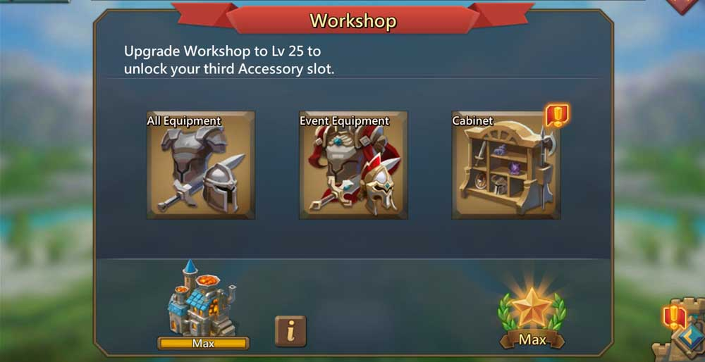 Workshop Lords Mobile Gear