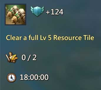Clear Level 5 Resource Tile