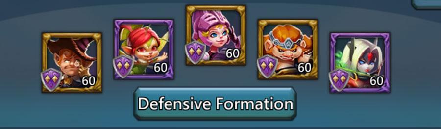 Defensive Colosseum Hero Lineup