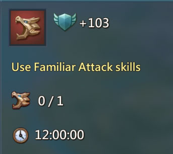 Familiar Attack Skills 103 Points