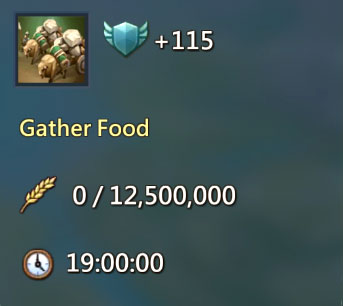 Gather Food 115 Points