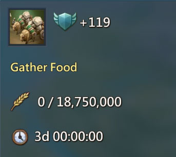 Gather Food 119 Points Quest
