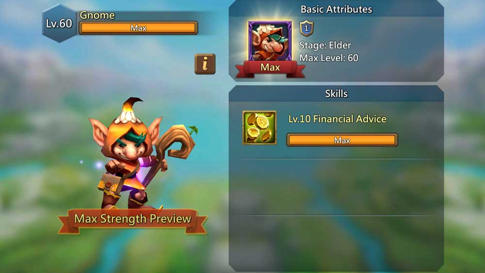 Gnome Familiar Max Strength Skills