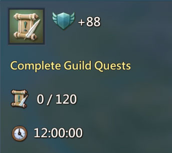 Guild Quests 88 Points