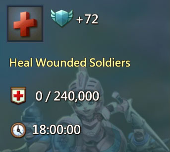Heal Wounded Soldiers 72 Points