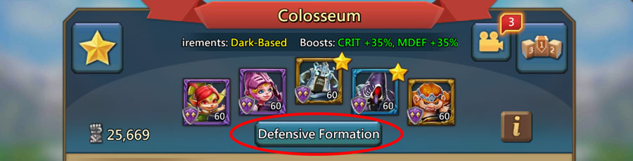 How To Set Up Defensive Lineup Colosseum