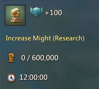 Increase Research Might 100 points