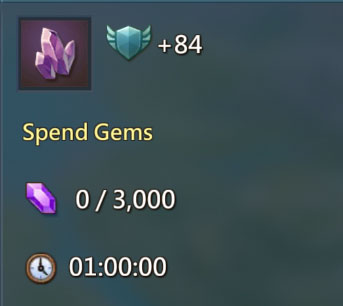 Spend 3000 gems Quest