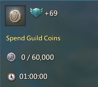 Spend Guild Coins 69 Points