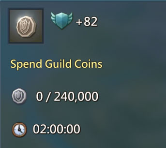 Spend Guild Coins 82 Points