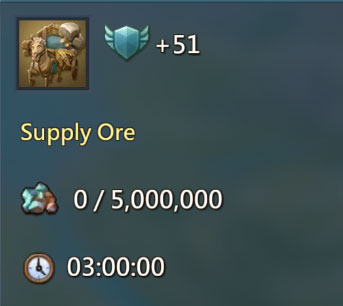 Supply 5m Ore 51 Points