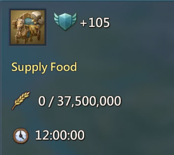 Supply Food 105 Points