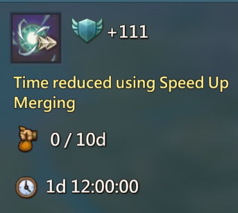 Time Reduced Merging 111 Points