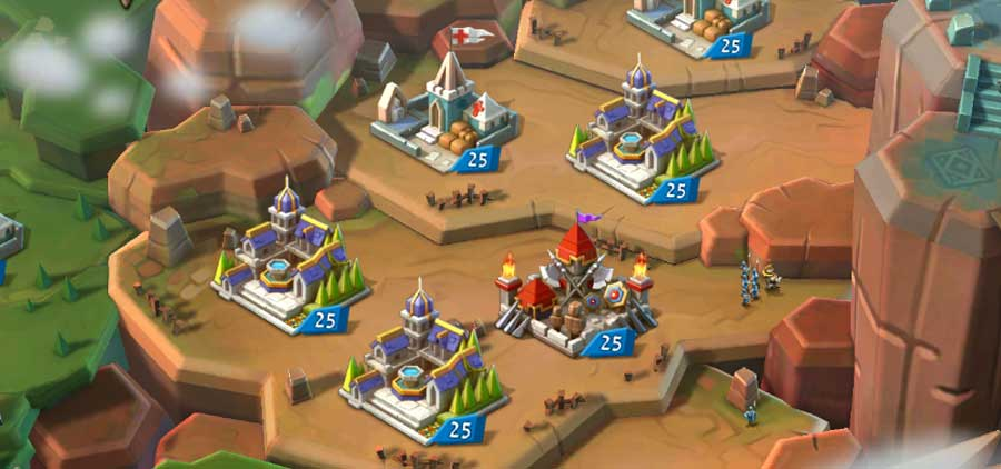 Building Manors in Lords Mobile Screen