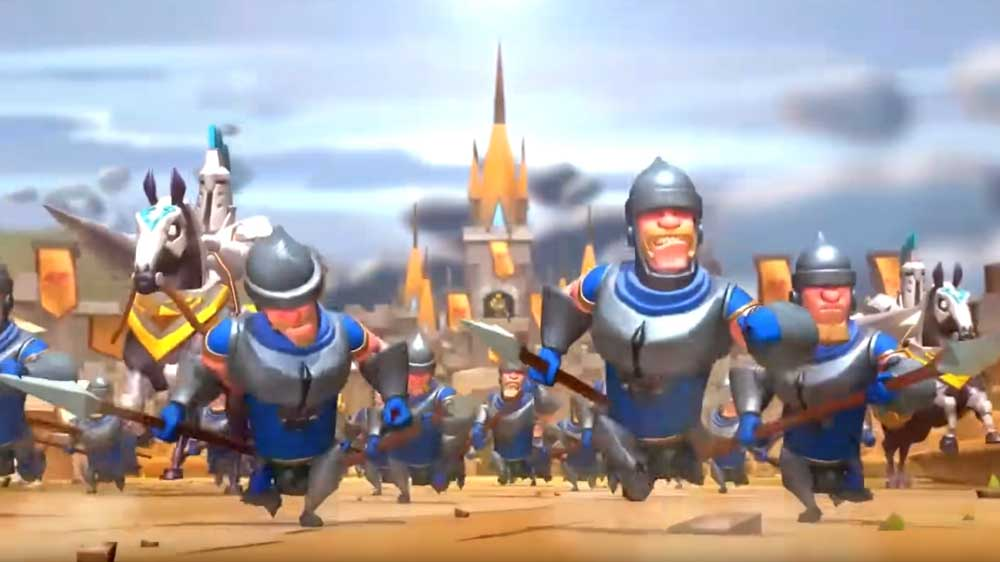 Troops Defending Castle in Lords Mobile