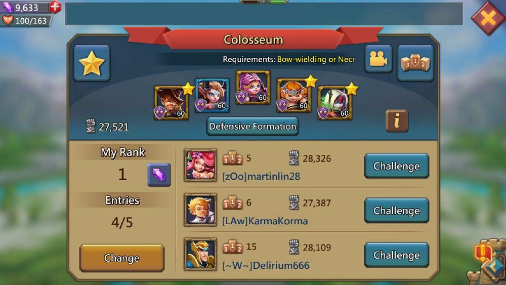 Reach Number 1 in Lords Mobile Colosseum