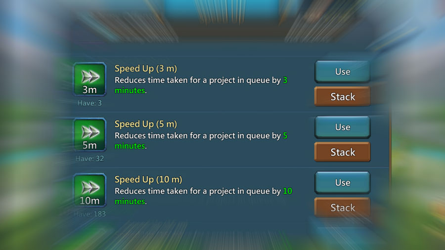 Speed ups for Research Event