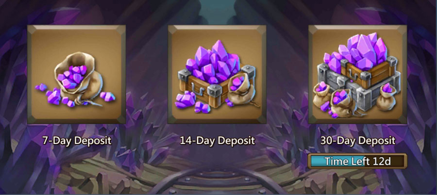 All three options for Treasure Trove