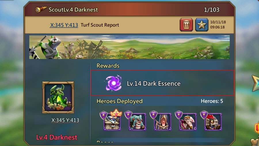 Darknest Turf Scout Report