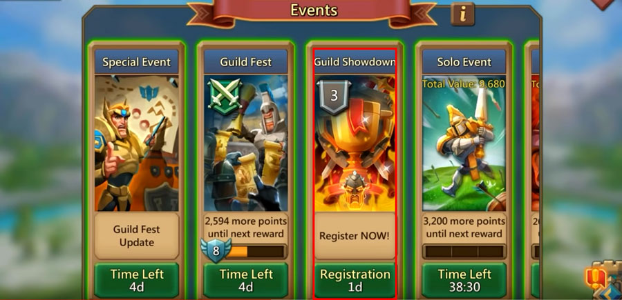 Register for Guild Showdown