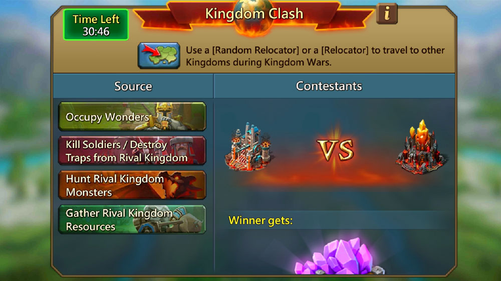 Kingdom Clash Screen KVK