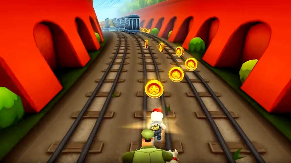 Gameplay of Subway Surfers