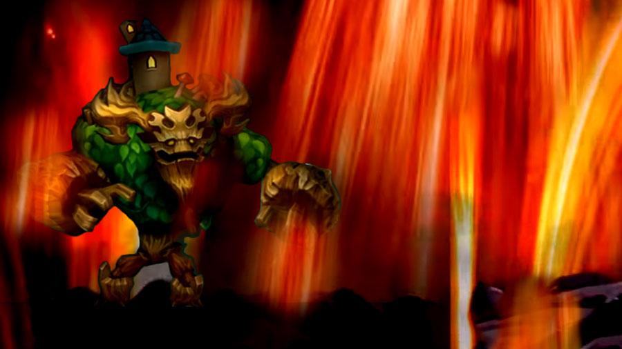 Watcher Hero in Fire Storm