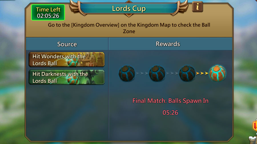 Final Match Ball Spawning Lords Cup