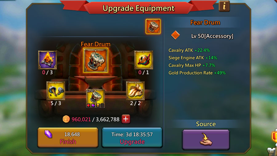 Upgrading Fear Drum Accessory