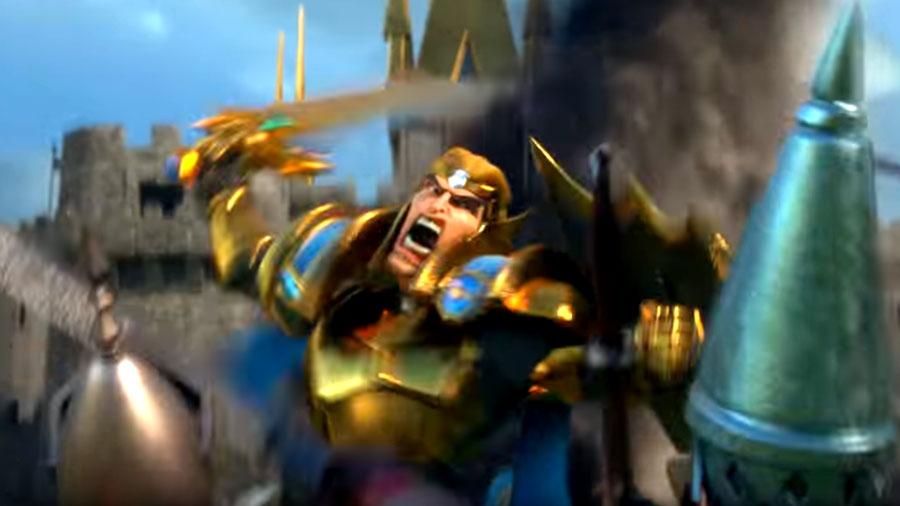 Hero Fighting Troops