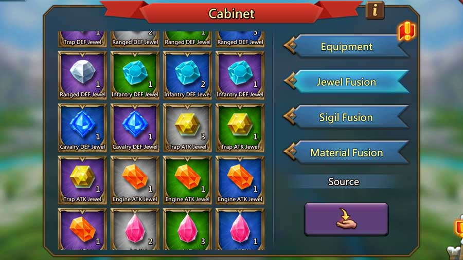 Jewel Cabinet in Lords Mobile