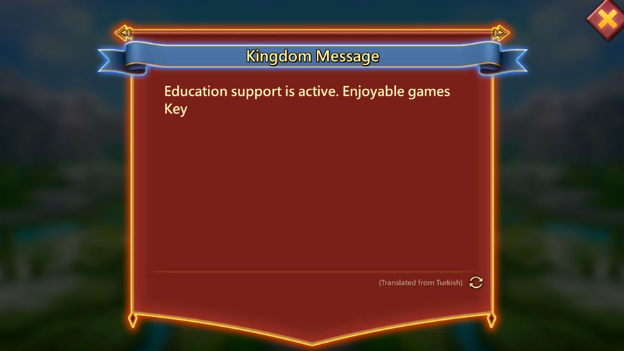 Kingdom Message Example from Turkish