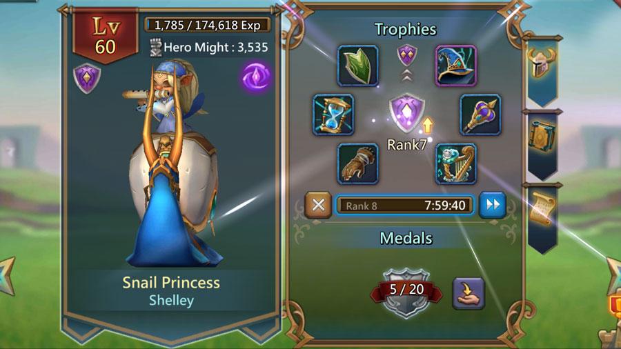 Snail Princess Upgrading