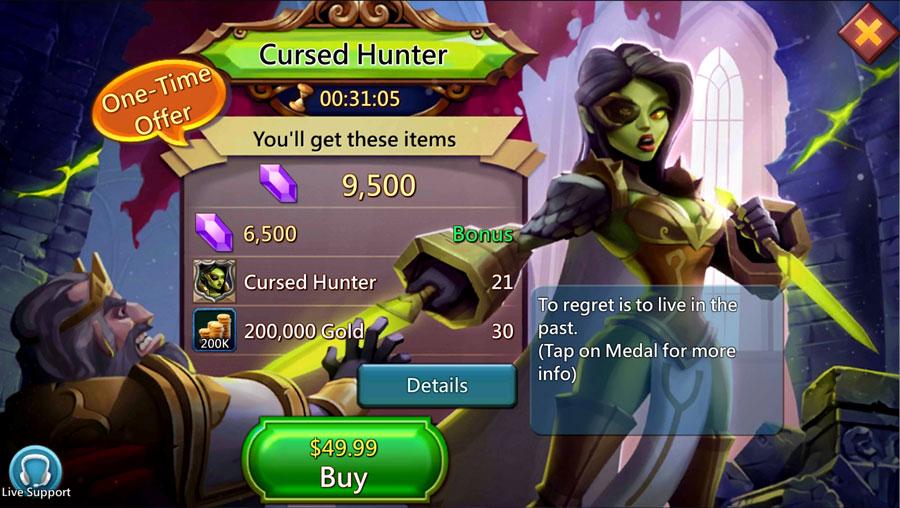 Cursed Hunter Hero Paid Packs