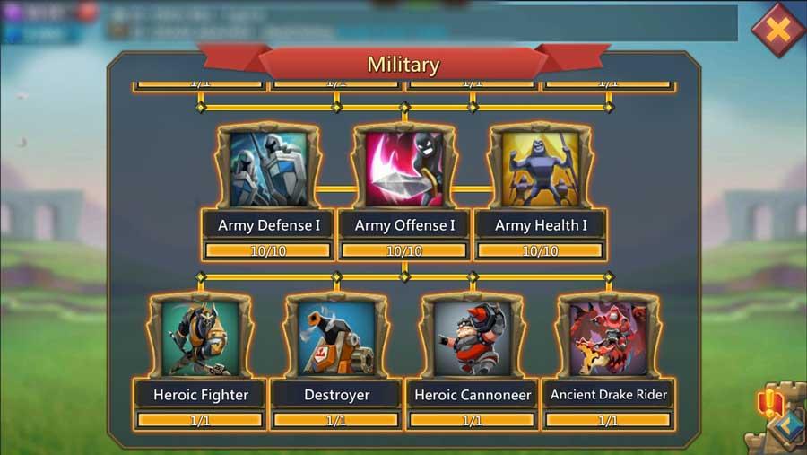 Miltary Unlock t4