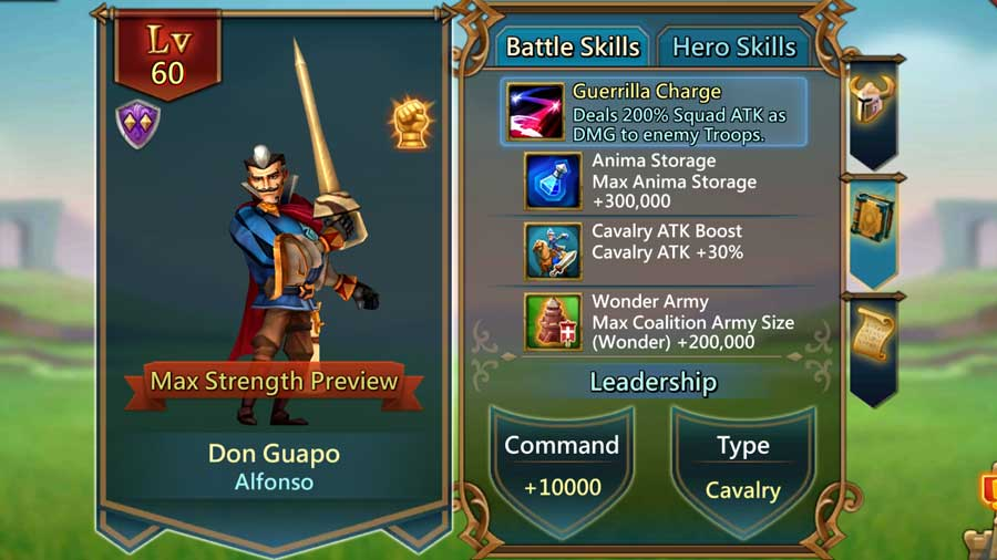 Don Guapo Battle Skills