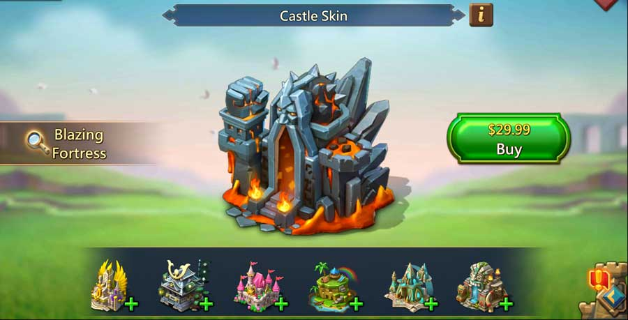 Lords Mobile Castle Skins