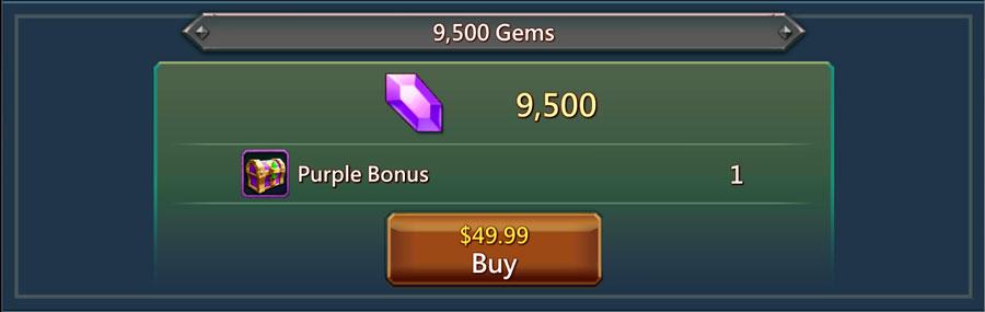 49 for 9500 gems