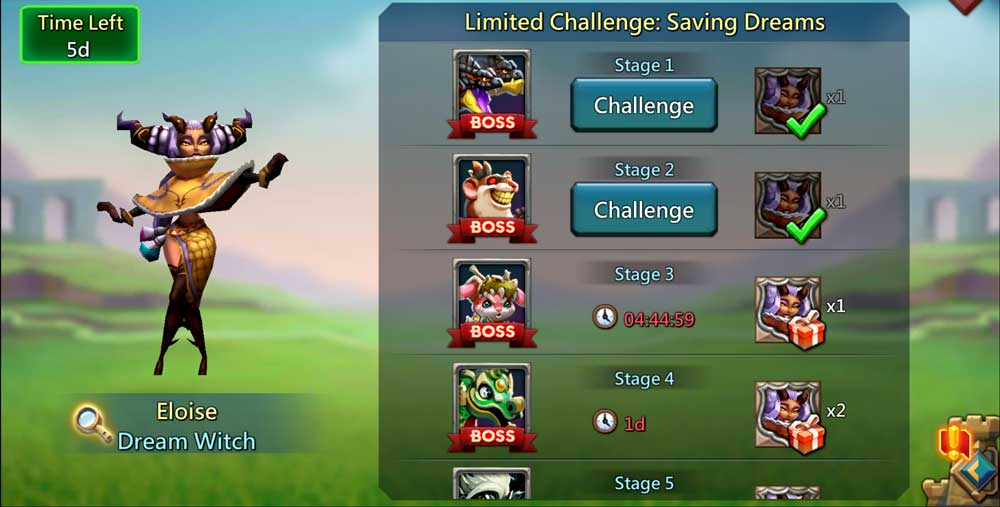 Saving Dreams Limited Challenge