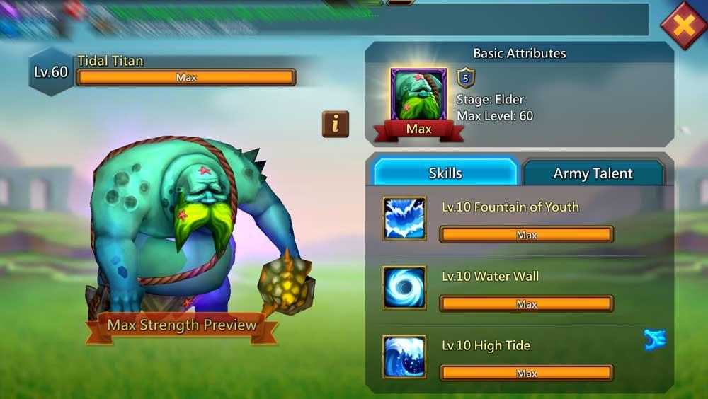 Tidal Titan Familiar Skills