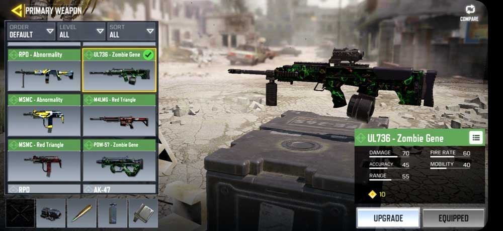 Weapons in COD Mobile