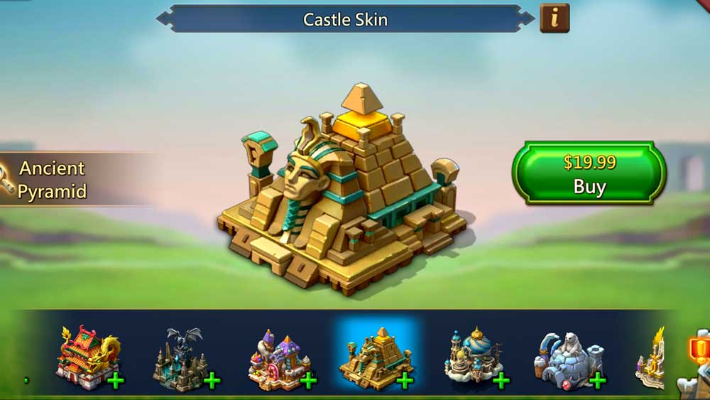 Ancient Pyramid Castle Skin